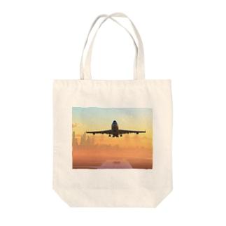 ボーイング747 Tote bags