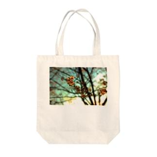 夕空と桜 Tote bags