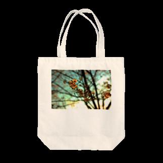夕空と桜 トートバッグ