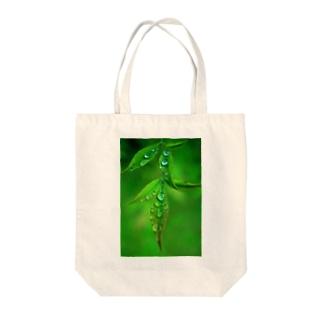 葉としずく Tote bags