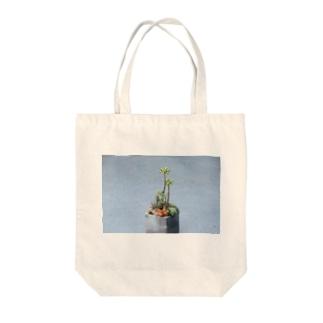 多肉植物 乙女心 オモテ Tote bags