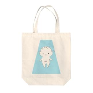 ぴこぴこちゃん降臨Tシャツ Tote bags