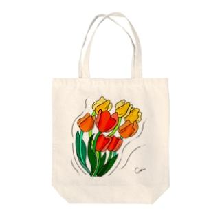 そよそよチューリップ Tote bags