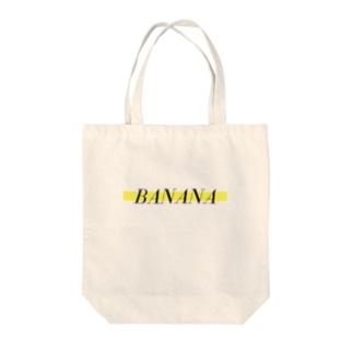 バナナ Tote bags