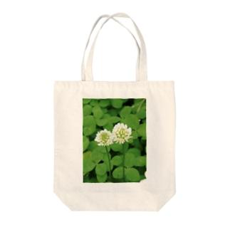 シロツメクサ Tote bags