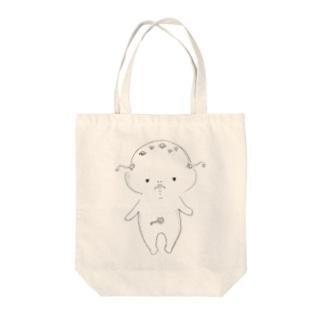 ぴこぴこちゃんTシャツ Tote bags