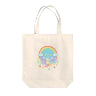 虹の中のペガサス Tote bags