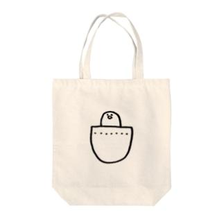 ポケットひよこ Tote bags