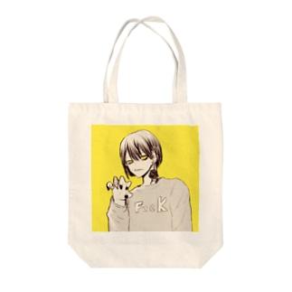 はむ (お仕事募集中DM受付)の薔薇の男の子 fuckロゴ Tote bags
