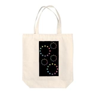 色相環の花火 Tote bags