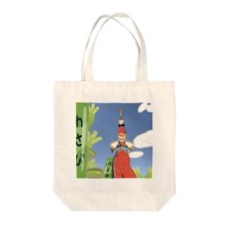 サーモンタワー Tote bags