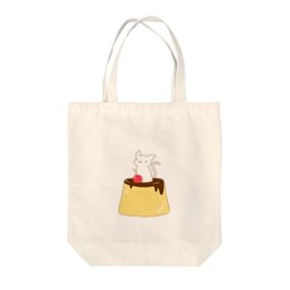 ネコプリン Tote bags