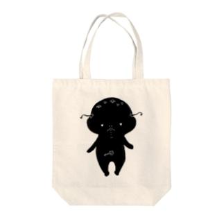 荒ぶるぴこぴこちゃん Tote bags