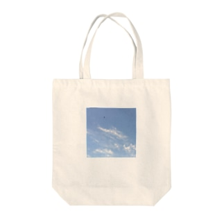 青空にカラス1 Tote bags