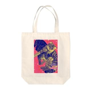 猫のラテモカグッズ Tote bags