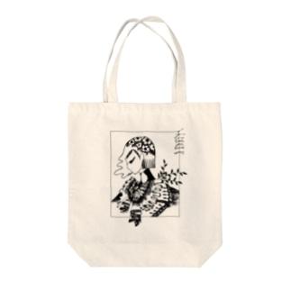 Mochi Miの額縁のおんな Tote bags
