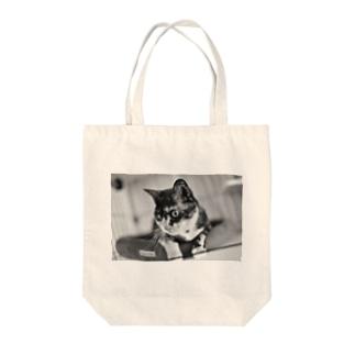 猫 Tシャツ、リンガーTシャツ、トートバッグ、マグカップ Tote bags