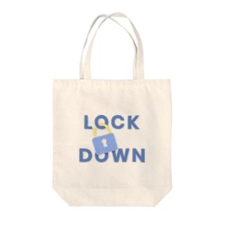 Lock Down  Tote bags