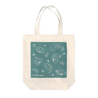 ごはんとMOCHIZOUくん(ブルー) Tote bags
