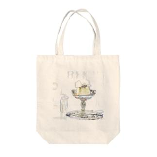 ぷりん Tote bags