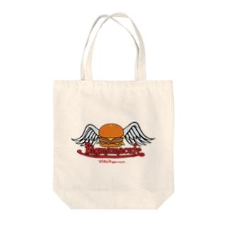 Bigmamacafe ハンバーガーロゴ Tote bags