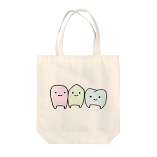 歯トリオ Tote bags