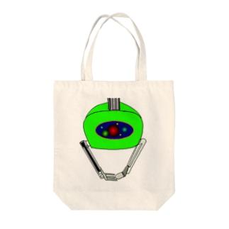 クレーンアーム Tote bags