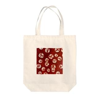 和紙_赤い絞り Tote bags