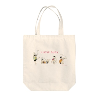 I LOVE DUCK Tote bags
