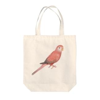 アキクサインコ ピンク【まめるりはことり】 Tote bags