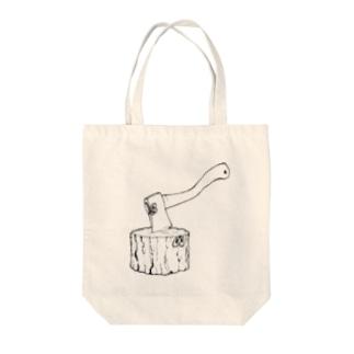 ハチェット◉◉ Tote bags