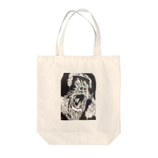 イケイケマントヒッヒー黒 Tote bags