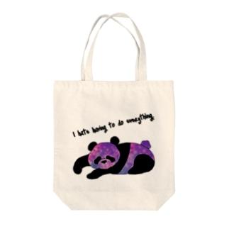 ピンクな宇宙パンダ Tote bags