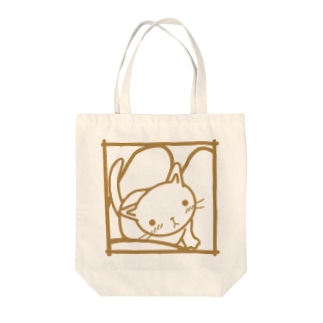 ひざネコ Tote bags