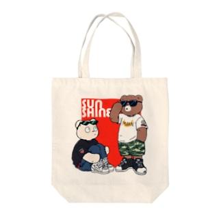 ベアーズ(赤) Tote bags