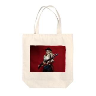 ドール写真:ブロンド美女のスナイパー Doll picture: Blonde sniper Tote bags
