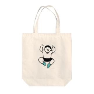 元気な人(やったー) Tote bags