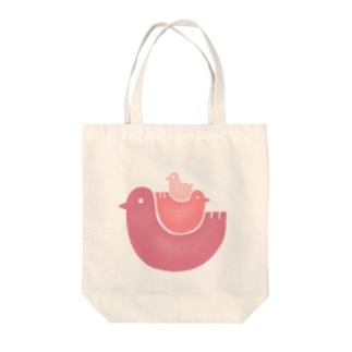 鳥家族 Tote bags