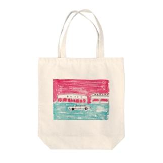 通り Tote bags