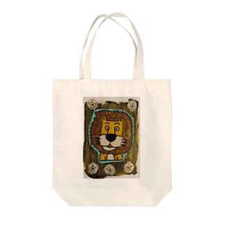 ライオンくん 金 Tote bags