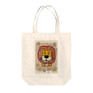 ライオンくん 銀 Tote bags