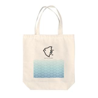 波に千鳥 Tote bags