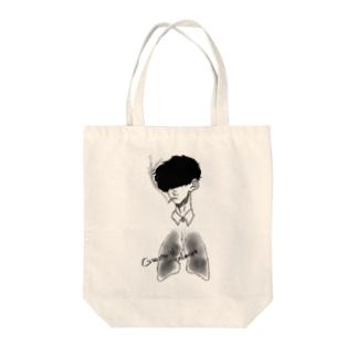 肺を汚す Tote bags