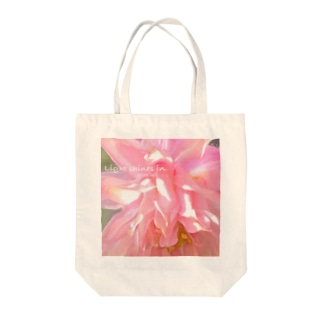 Light shines in. Tote bags