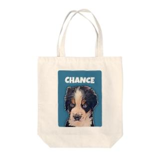 よっしぃのChance Tote bags