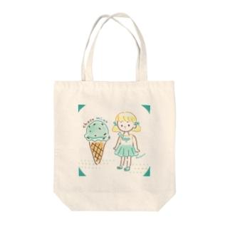 チョコミント Tote bags