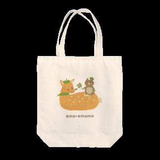 やたにまみこのema-emama『happiness-clover』 Tote bags