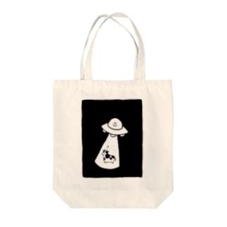 キャトられる牛 Tote bags