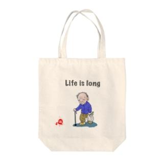 翁ジジイの翁 おきな Tote bags