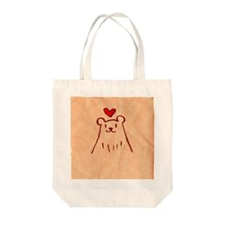 ラブリーベアー Tote bags
